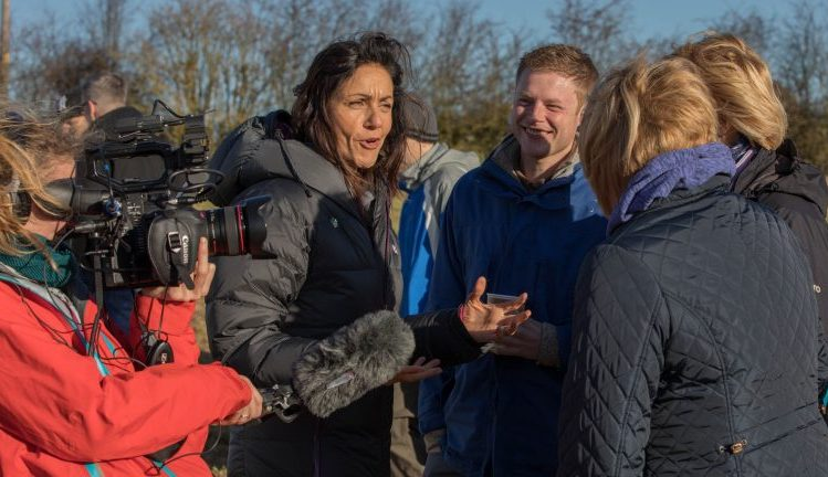 Julia Bradbury Gipping Press Woodland Trust